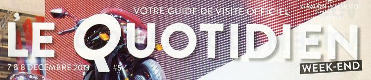 Logo du magasine du quotidien du salon de la moto Paris