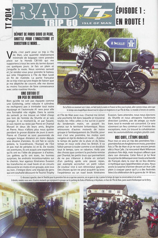 article rad motorcycle n°14 tt 2014 avec itinéraires évasion