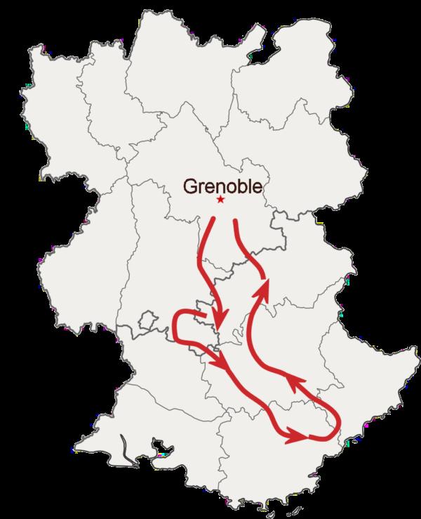 Mont Ventoux et route Napoleon à moto