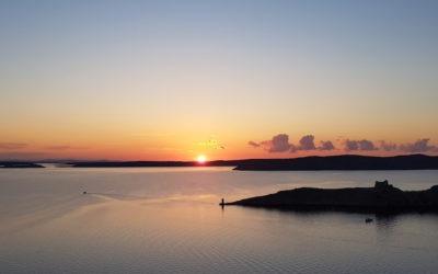 coucher de soleil sur Pag