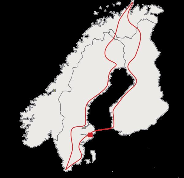 Cap nord et tour de la Baltique