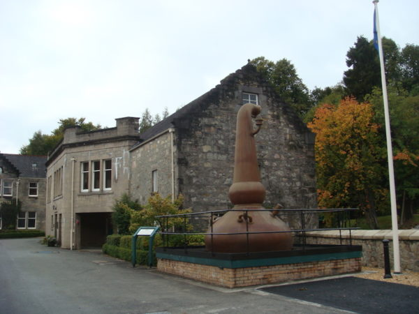 Distillerie en Ecosse lors d'un voyage moto
