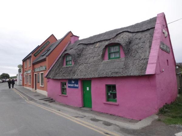 Maison colorée typique d'Irlande