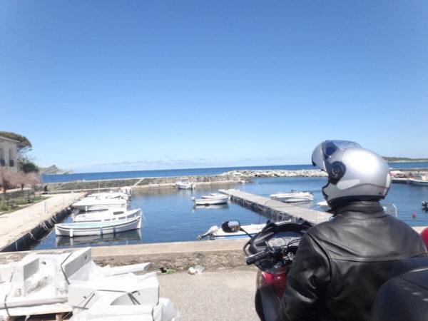 Motard au Cap Corse