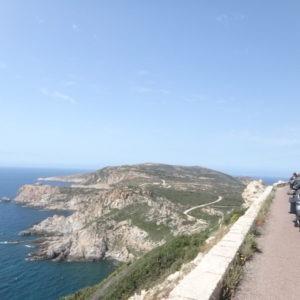 route corse vers Calvi avec une moto