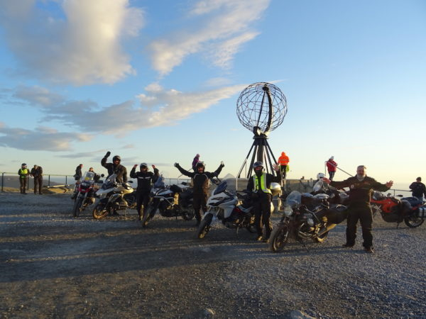 motards au cap nord en norvege