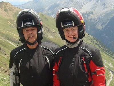 Chantal et Pierre, créateurs de voyages moto en Europe