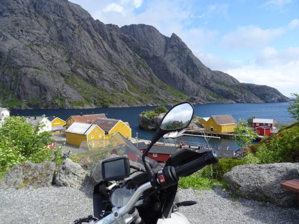 Nusfjord en Norvège à moto