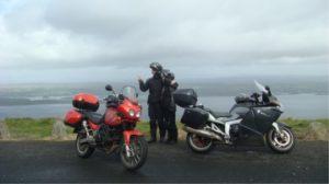 motards en voyage