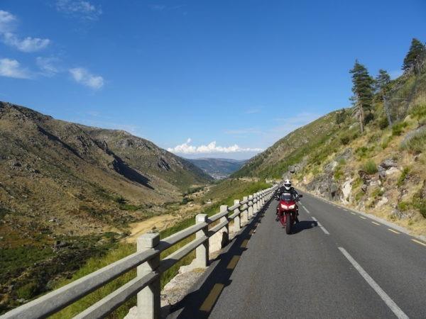la vallée du Zezere a moto