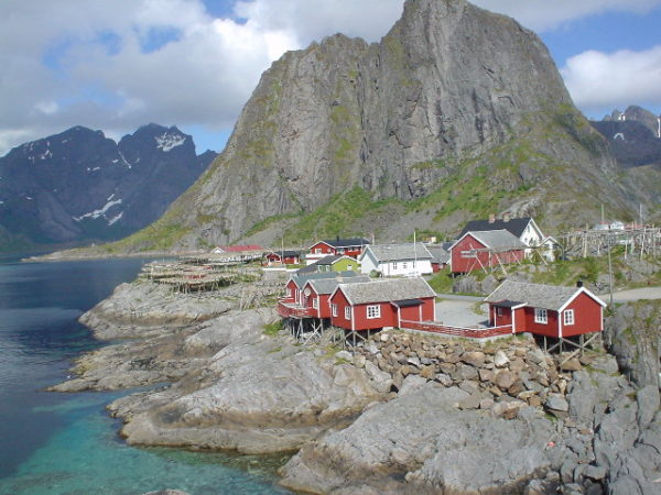 Hamnoy, village typique des lofoten en norvege
