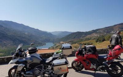 voyage moto dans la vallée du douro