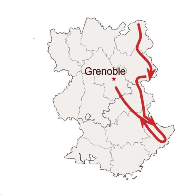Route des grandes Alpes à moto