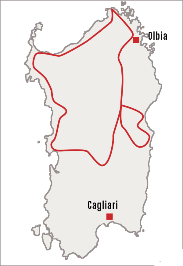 Circuit Sardaigne de Corse du sud et Sardaigne