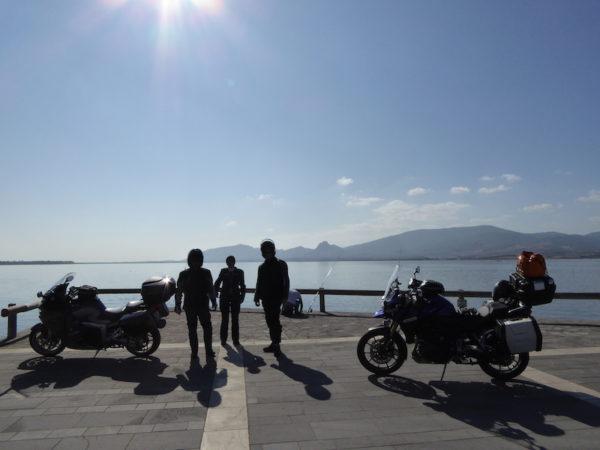 Arrêt photo en voyage moto en Sardaigne