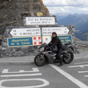 Moto au col du Galibier