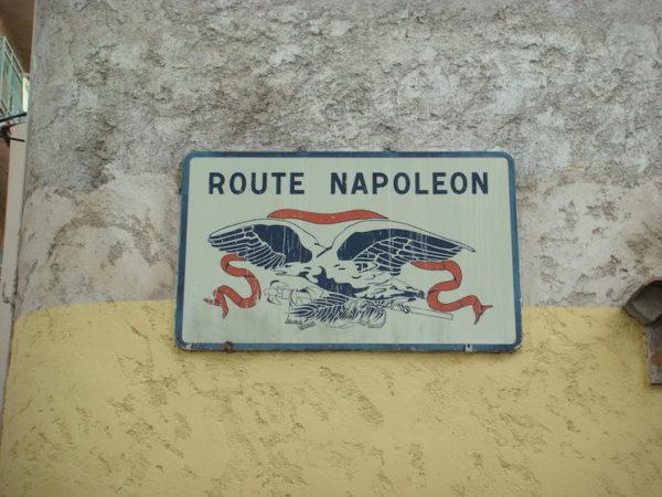 Le départ de la route Napoleon