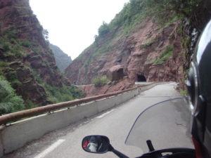 Gorges du Cians en moto