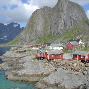 Voyage moto en Norvege, Hamnoy, îles Lofoten