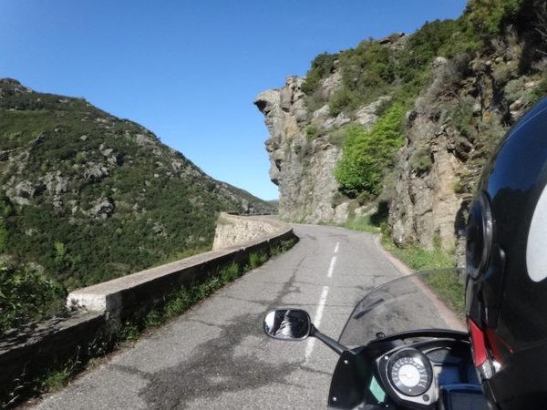 Montagne Corse à moto