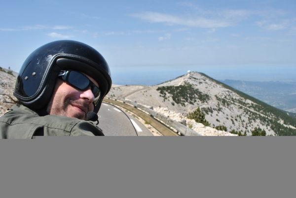 Montée du mont Ventoux à moto