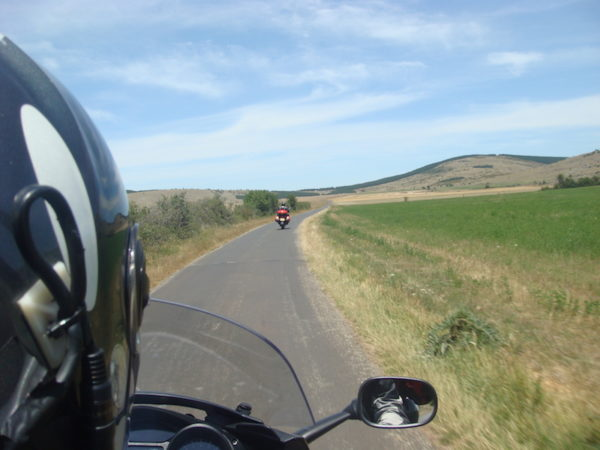 Balade moto dans les Causses