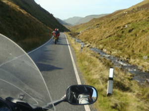 Pays de Galles et moto au fil du temps