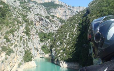 Sortie des gorges du Verdon dans le lac de Ste Croix