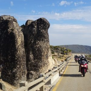 Vers le mont Tore en voyage moto au portugal