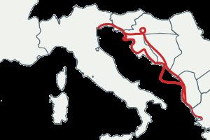 Croatie à moto via Venise