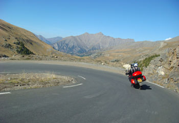 Une balade moto au col de la Bonette !