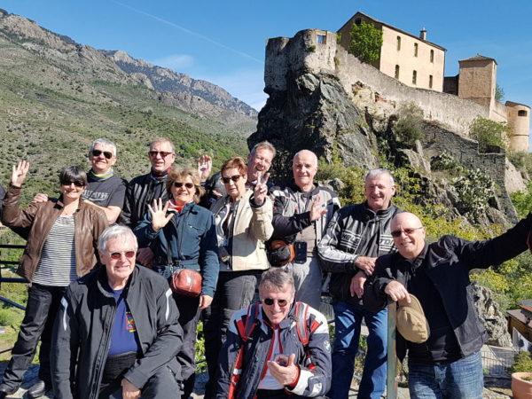 Groupe motards en Corse