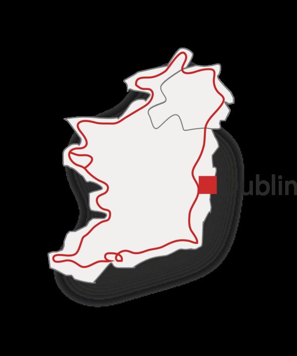 Tracé circuit grand tour de l'Irlande