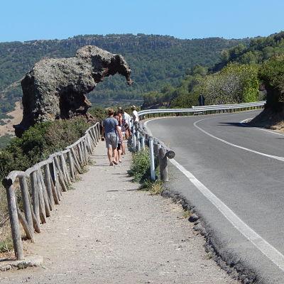 Le rocher de l'éléphant en Sardaigne