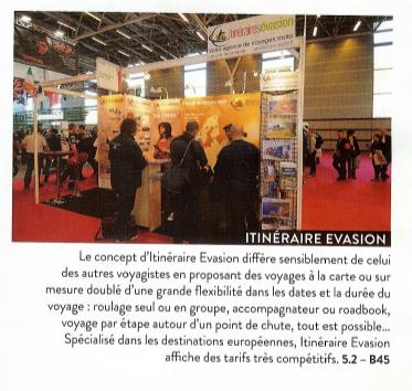 Article de Presse dans le journal du Salon de la Moto de Paris en 2013