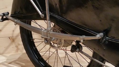 détail de la roue arrière de la megola