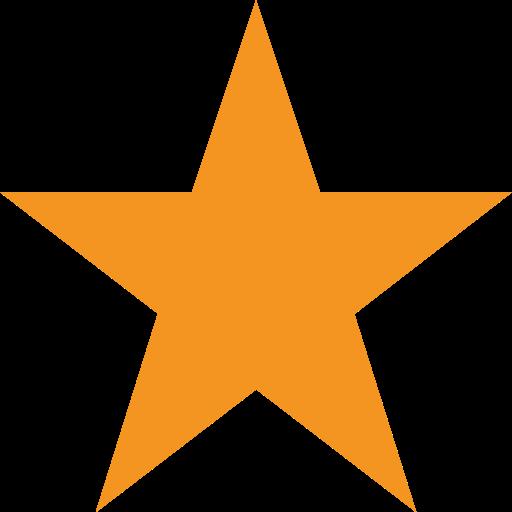 picto orange représentant une étoile pour illustrer les particularités d'un site touristique ou d'une moto