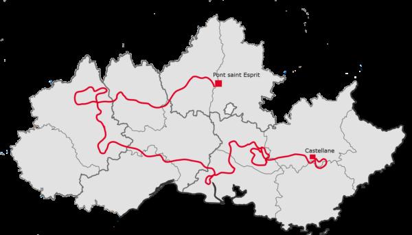 Carte voyage Verdon-Luberon-Tarn