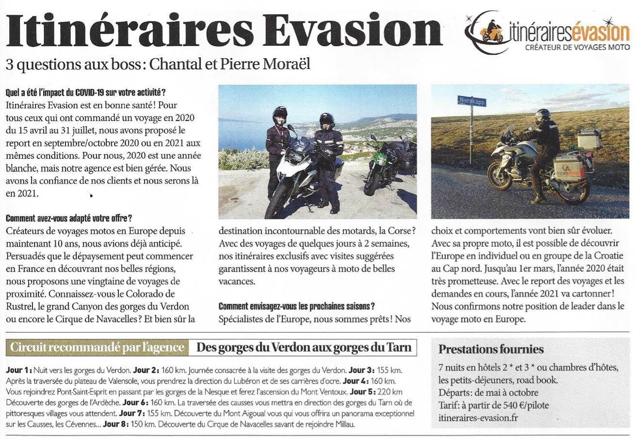 Article du magazine RoadTrip auprès des gérants de l'agence Itinéraires évasion