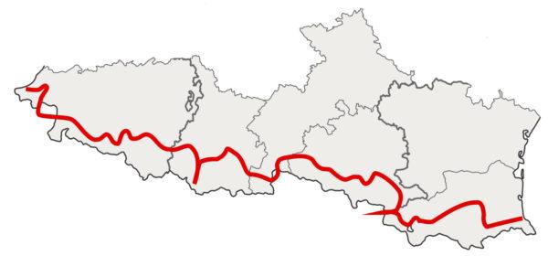 Pyrénées à moto, carte route des cols