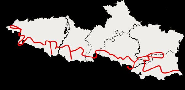 Carte escapade moto dans les Pyrénées
